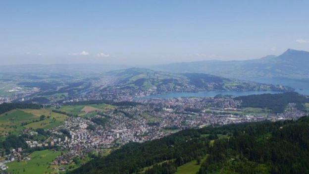 Blick vom Krienser Sonnenberg.