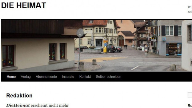 Screenshot der Website der «Heimat»