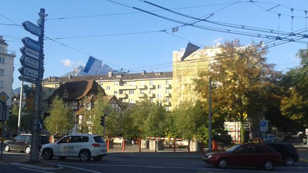 Die Baulücke am Pilatusplatz in Luzern.