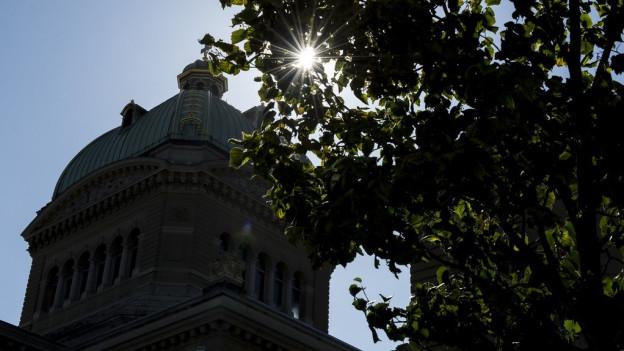 Das Licht über dem Bundeshaus lockt...