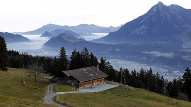 Alphütte im Kanton Obwalden.