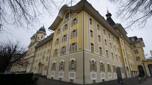 Das Gebäude der kantonalen Verwaltung in Schwyz.