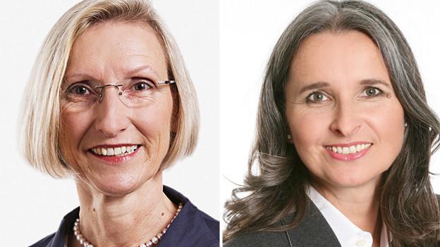 Prisca Birrer (SP) und Yvette Estermann (SVP) treten nochmals an.