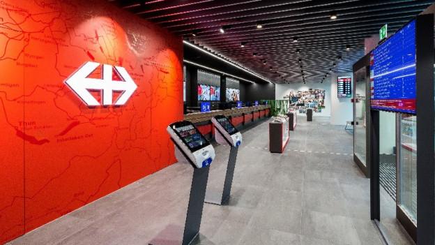Das neue Reisezentrum im Bahnhof Luzern.