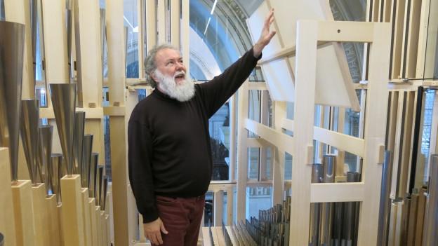 Hoforganist Wolfgang Sieber und das neue Echo-Werk