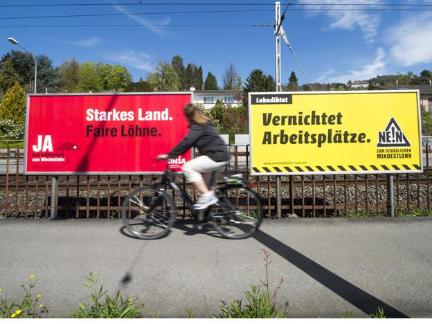 In Luzern hängen an 600 Stellen Plakate