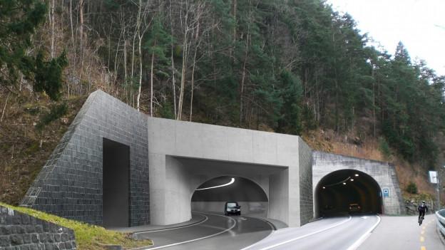So könnte ein Tunnelportal am Axen aussehen.