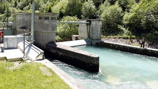 Wasserkraftwerk im Kanton Uri.