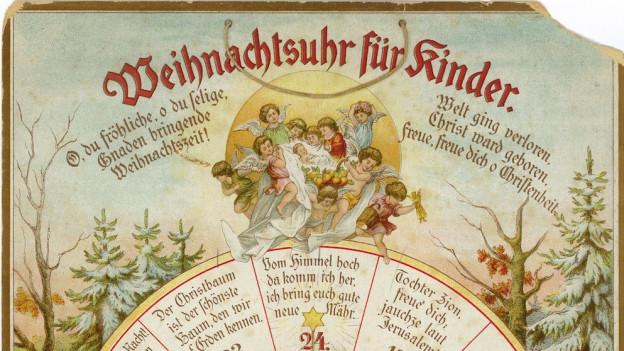 In Hamburg erschien 1902 der erste gedruckte Adventskalender – als Weihnachtsuhr.