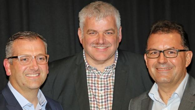 Die CVP-Kandidaten: Michael Stähli, Othmar Reichmuth, Andreas Meyerhans.