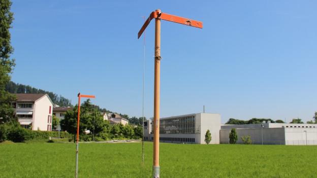 Baugespann neben Haftanstalt Grosshof in Kriens.