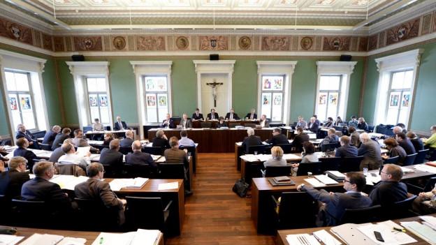 Zuger Kantonsparlament bei einer Sitzung.