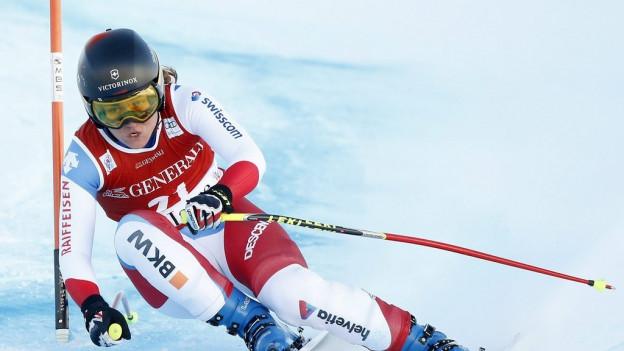 Fabienne Suter rast in Val d'Isere auf den zweiten Platz.