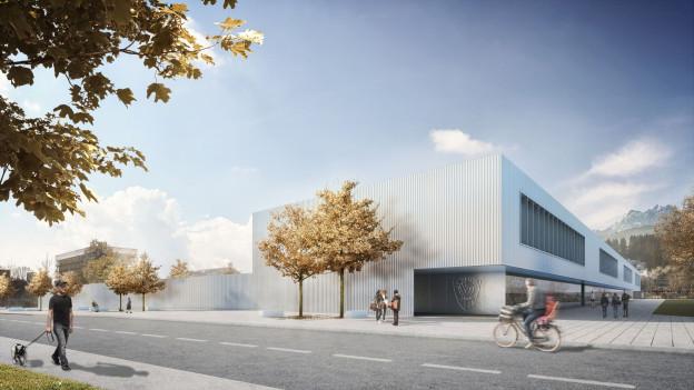 Das neue Stadion in Kriens soll 2018 eröffnet werden.