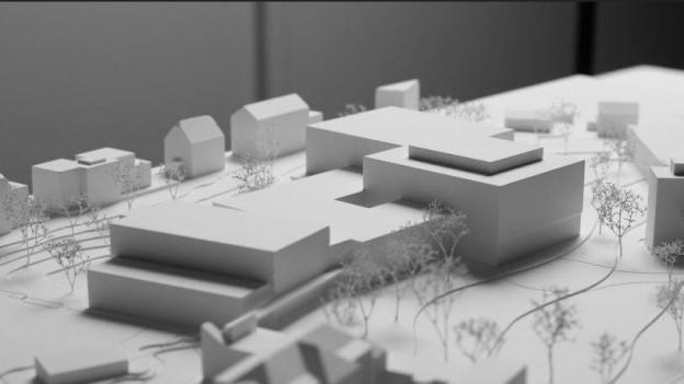 Ein Modell des Neubau-Projektes für das Urner Kantonsspital.