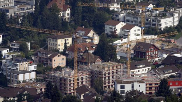 Häuser in der Zuger Altstadt.