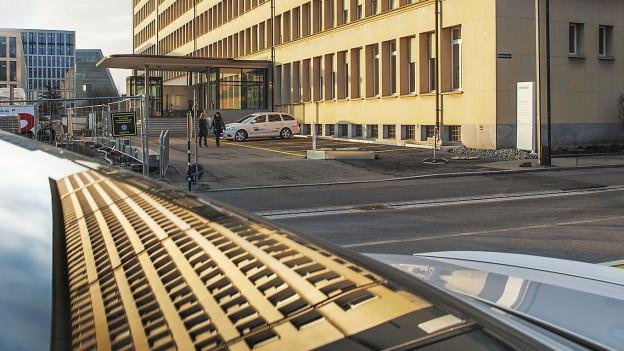 Das Gebäude der ehemaligen Landis & Gyr in Zug.