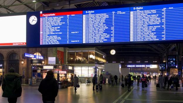 Der Zug-Fahrplan kann nicht überall eingehalten werden.