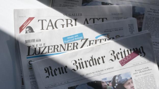 Zeitungen der NZZ-Gruppe: Die «Neue Luzerner Zeitung» und «St. Galler Tagblatt»
