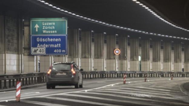 Der Gotthard-Strassentunnel.
