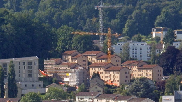 Siedlung der Allgemeinen Baugenossenschaft Luzern.