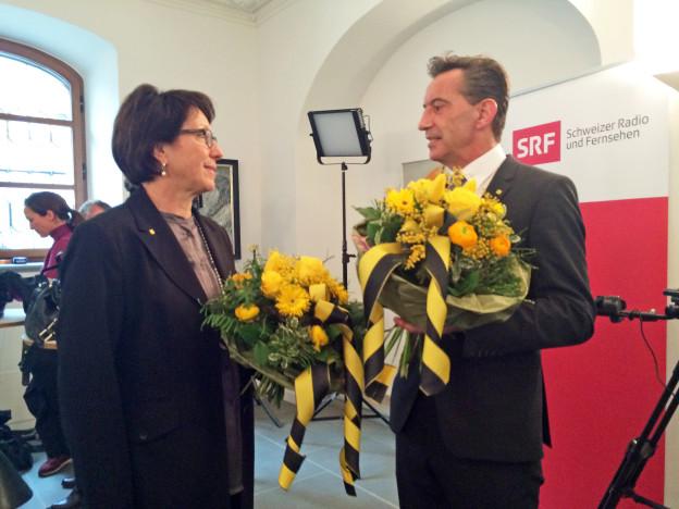 Wieder gewählt: Barbara Bär und Beat Jörg.