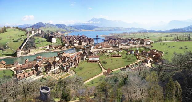 So soll die Stadt Luzern damals ausgesehen haben.