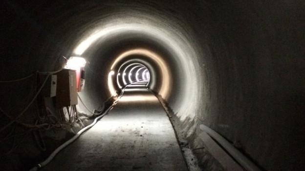 Der Sicherheitsstollen des Tunnels Sachseln im Kanton Obwalden.