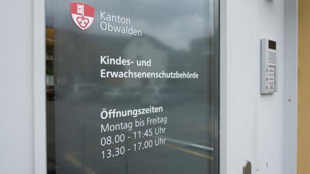 Der Eingang der Kindes- und Erwachsenenschutzbehörde des Kantons Obwalden.