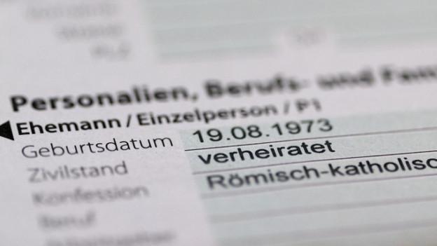 Ein Steuererklärungsformular.