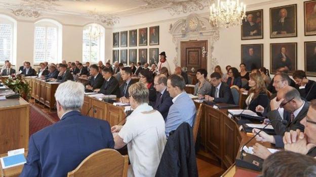 Der Kantonsrat des Kantons Obwalden an einer Sitzung.