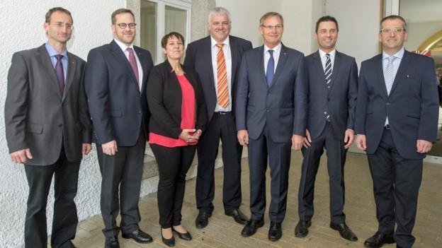 Die neue Schwyzer Regierung.