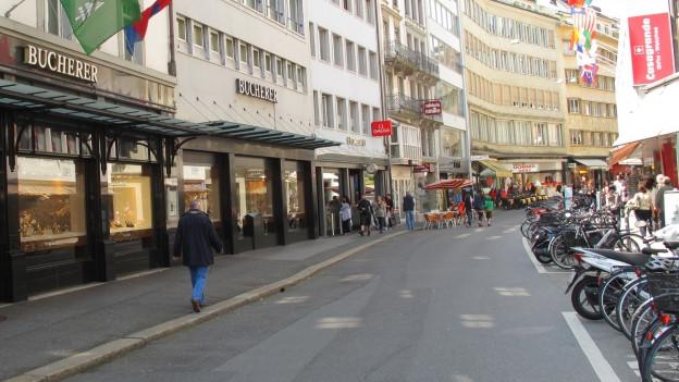 Die Uhrengeschäfte in der Luzerner Innenstadt.