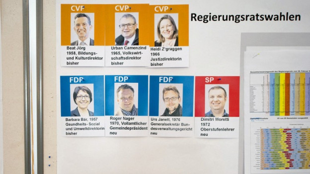 Die Resultate auf einen Blick im Rathaus Altdorf.