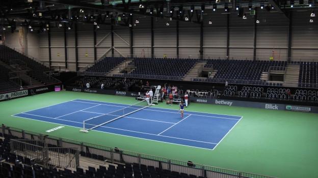 An diesem Wochenende wird in der Messe Luzern Tennis gespielt.