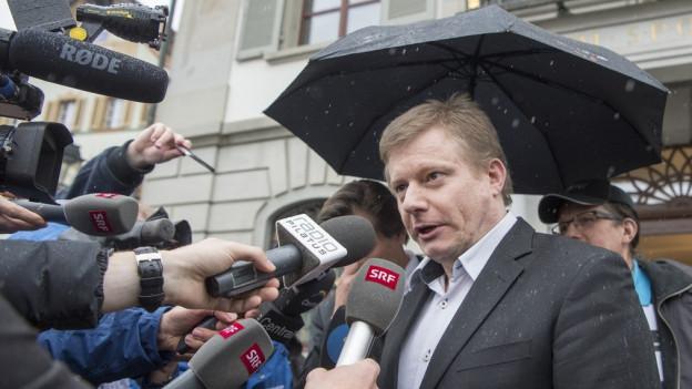 Ignaz Walker nach dem Urteil in Altdorf.