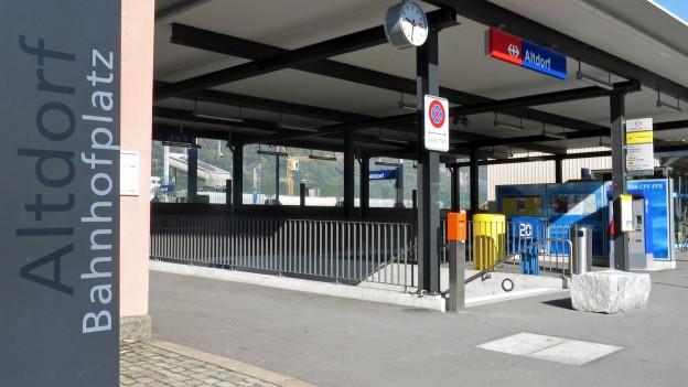 Der Bahnhof Altdorf wird für 60 Millionen Franken ausgebaut.