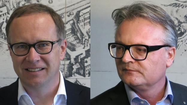 FDP-Stadtrat Martin Merki (links): Nachfolger von Stadtpräsident Stefan Roth (CVP)?