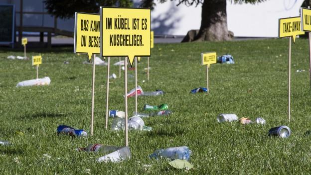 Die Stadt Zug kämpft seit zwei Jahren mit verschiedenen Aktionen gegen Littering