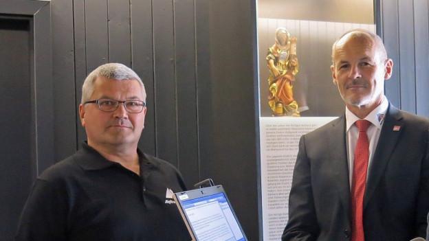 Die Live-Gäste Renzo Simoni (r.) und Alois Bissig.