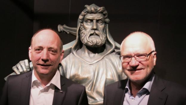 Leo Brücker und Georges Theiler: Live-Gäste im Regionaljournal.