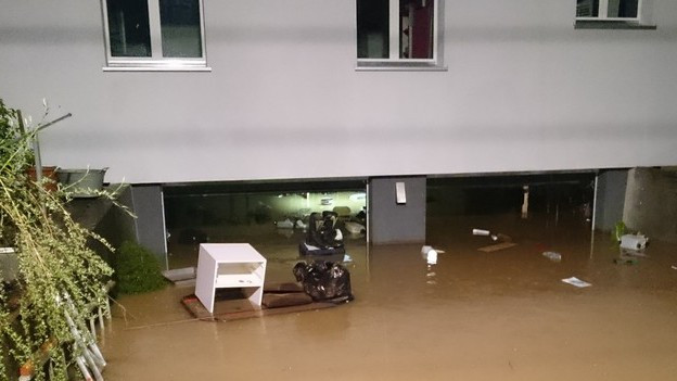 Überschwemmungen in Malters.