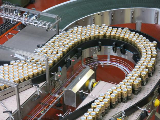 Abfüllanlage von Getränkehersteller Ramseier.