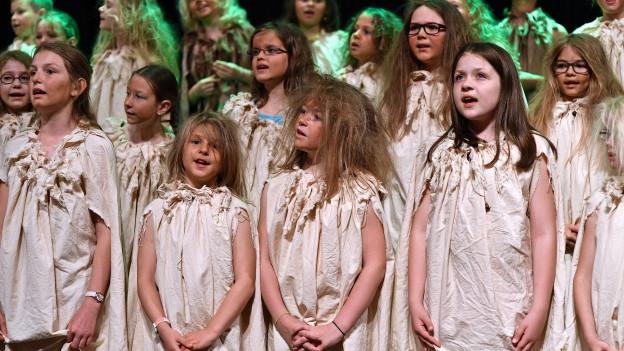 11 Kinder- und Jugendchöre traten am Innerschweizer Gesangsfest auf.
