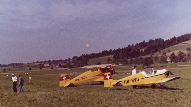 Beschaulich: Der Flugplatz Beromünster in den 60er-Jahren des letzten Jahrhunderts.