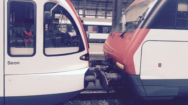 Beim Zugunfall ist der Sachschaden ist gering