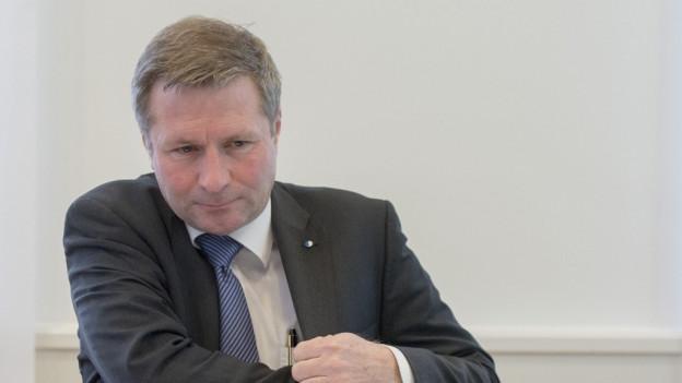 Finanzdirektor Marcel Schwerzmann schliess Steuererhöhung nicht mehr aus.