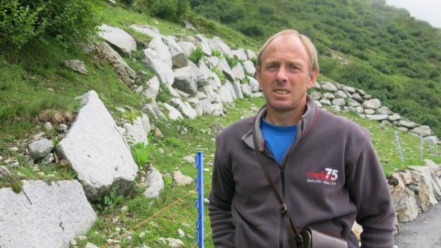 Josef Baumann sorgt sich um seine Schafe.