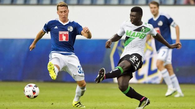 Das Spiel zwischen dem FCL und Sassuolo war hart umkämpft.