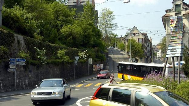 Der Kreisel «Kreuzstutz» in Luzern erhält eine Beton-Skulptur.